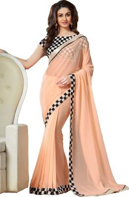 Nine Sister Plain Fashion Georgette Sari