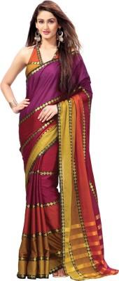 EvaFashion Self Design Bollywood Handloom Cotton Linen Blend Sari