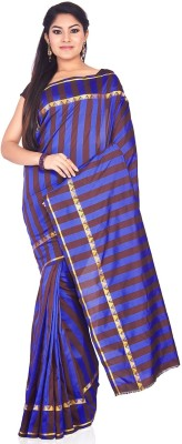 IndusDiva Striped Fashion Art Silk Sari