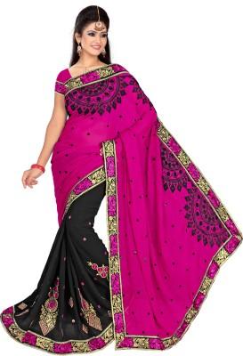 Alliance Fashion Self Design Fashion Georgette Sari