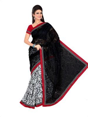 Vini Designer Printed Fashion Brasso Fabric Sari