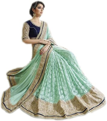 KESHUBHAI Embriodered Fashion Brasso Sari