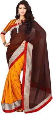Suchi Fashion Self Design Fashion Georgette, Jacquard Sari