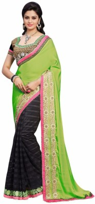 Mukta Mishree Exports Embriodered Fashion Crepe, Net Sari