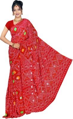 Arch Solid Fashion Georgette Sari