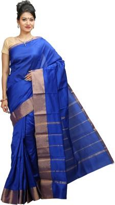 JISB Plain Kanjivaram Art Silk Sari