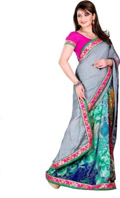 Madhuban Self Design, Printed, Floral Print Fashion Synthetic Georgette Sari