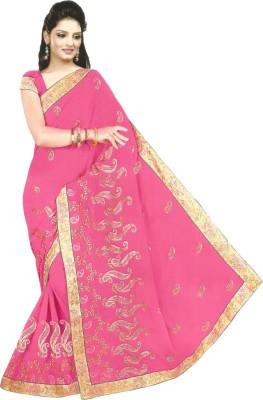 Bebzcozzy Embriodered Fashion Georgette Sari