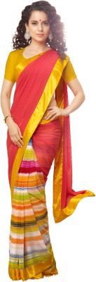 Jambudi Creation Striped Fashion Georgette Sari