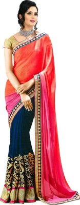 Ustaad Embriodered Bollywood Georgette Sari
