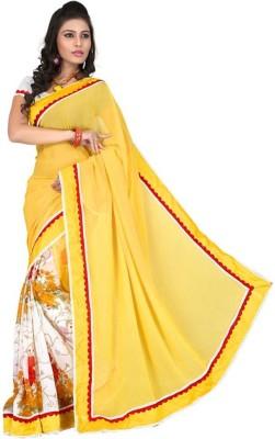NVR Creation Plain Bollywood Georgette Sari
