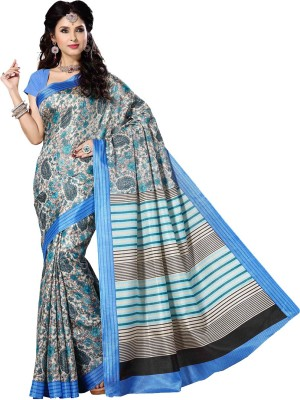 Rani Saahiba Floral Print Bhagalpuri Art Silk Sari