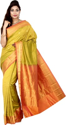 Indian Silks Self Design Kanjivaram Silk Sari