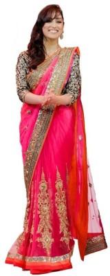 Aagamanfashion Embriodered Fashion Net Sari