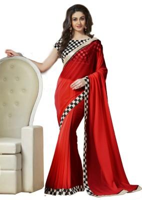 Dhnet Self Design Fashion Georgette Sari
