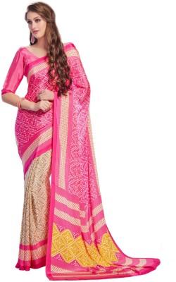 V-Style4u Printed Daily Wear Crepe Sari
