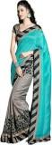 DWM Printed Fashion Art Silk Sari (Grey,...