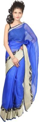 Indian House Self Design Kota Doria Handloom Silk Cotton Blend Sari