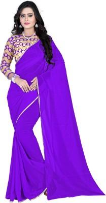 Vastrakala Plain Bollywood Chiffon Sari