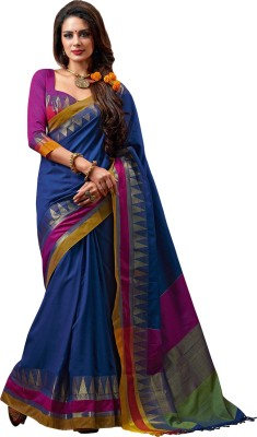 Beautara Printed Fashion Silk Cotton Blend Sari