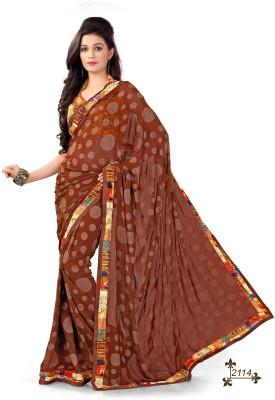 ambey shree trendz Solid Tant Synthetic Sari