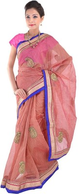 Indiangiftemporium Embriodered Fashion Net Sari