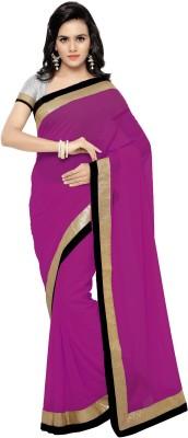 satya sita Solid Fashion Georgette Saree(Multicolor) at flipkart