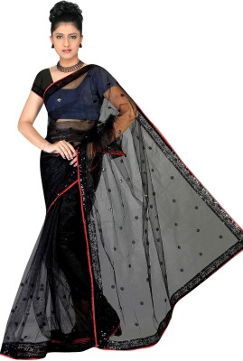 Genius Creation Embriodered Bollywood Net Sari