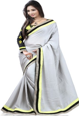 STYLO SAREES Plain Fashion Georgette Sari