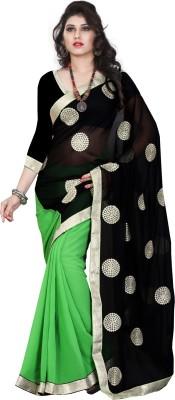Balaji Creations Self Design Bollywood Georgette Sari