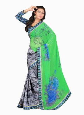 Ethnic Trend Printed Daily Wear Chiffon Sari
