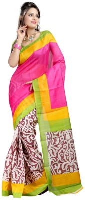 Eagle Fashion Printed Bhagalpuri Handloom Printed Silk Sari