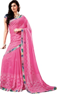 Stay Blessed Printed Fashion Satin, Chiffon, Jacquard Sari