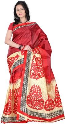 Raj Creative Printed Murshidabad Handloom Silk Sari