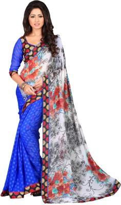 V-Style4u Printed Fashion Chiffon Sari