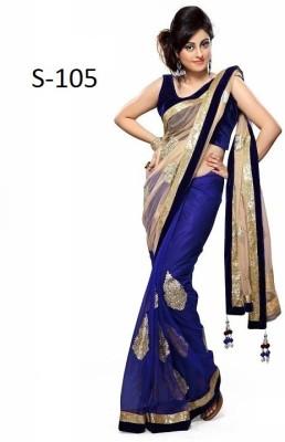 AKSH FASHION Embriodered Fashion Georgette Sari