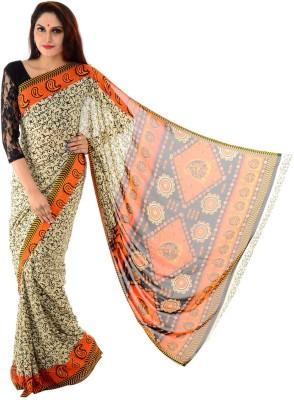 Samadhi Sarees Printed Daily Wear Synthetic Sari