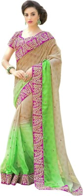 Dertaste Embriodered Bollywood Chiffon Sari
