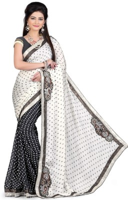 shart Embriodered Assam Silk Crepe Sari