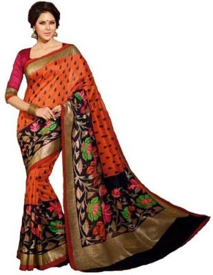 Nidhik Printed Bhagalpuri Handloom Silk Sari