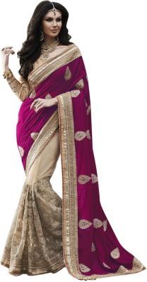 Colour Trendz Self Design Bollywood Velvet Sari