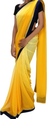 Vizwa Solid Fashion Georgette Sari