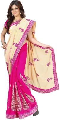 Randeria Fabrics Self Design Bollywood Georgette Sari