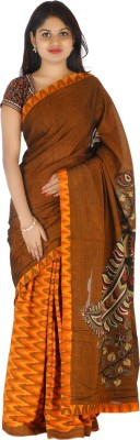 Masterweaver India Self Design Ikkat Cotton Sari