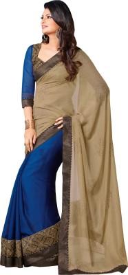 Queenbee Paisley, Self Design Fashion Georgette Sari