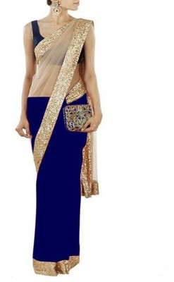 Krisha Fashion Embriodered Fashion Net Sari