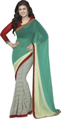 KHODALDHAM Printed Bollywood Lace Sari