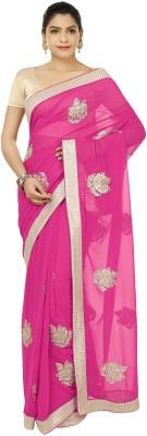 Suruchi Embriodered Fashion Georgette, Art Silk Sari
