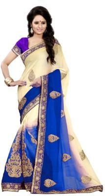Viha Embriodered Fashion Georgette Sari