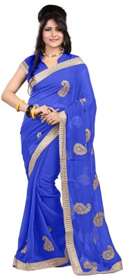 Radha Krishna Embriodered Fashion Chiffon Sari